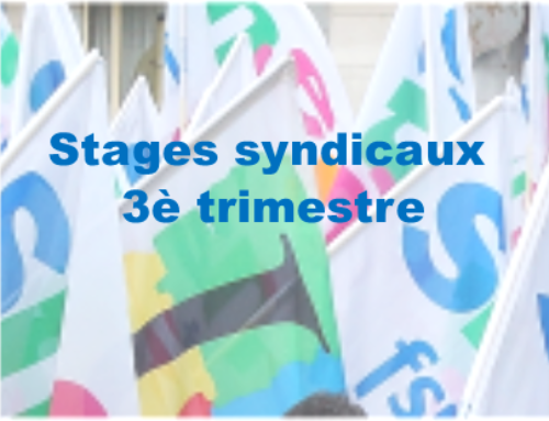 Stages syndicaux 3ème trimestre