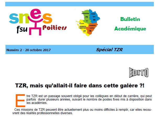 Bulletin Spécial TZR
