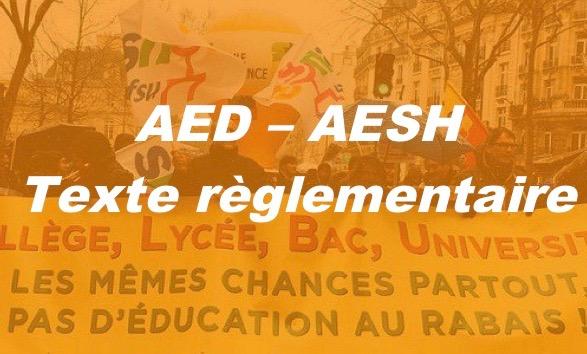 AESH : Comité Technique Ministériel du 16 mai 2018