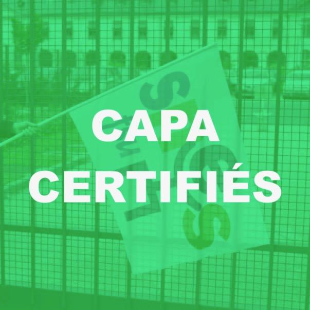Installation CAPA certifiés – 8 janvier 2019