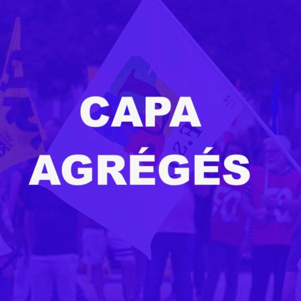 Installation de la CAPA agrégés – 8 janvier 2019