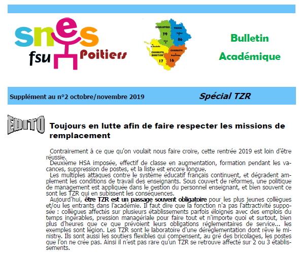 Bulletin TZR